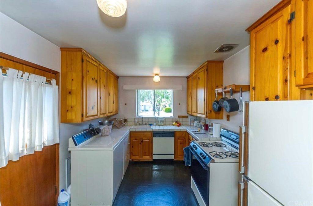 Galley kitchen before photo