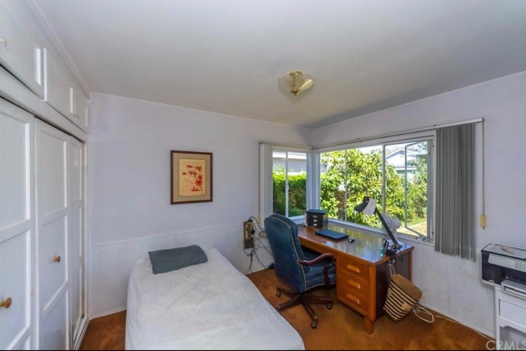 Guest, secondary or kids bedroom before remodel picture Kate Lester Interiors